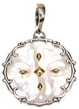 Carolyn Pollack White Mother of Pearl Sterling Silver & Brass Enhancer