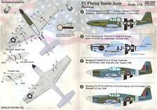 Print Scale Decals 1/72 V1 FLYING BOMB ACES P-51 Mustang Fighters