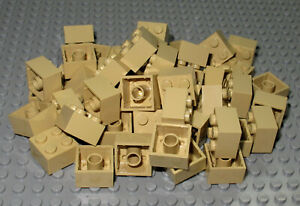 LEGO Bricks  2x2 x 50 pcs - Tan - Used