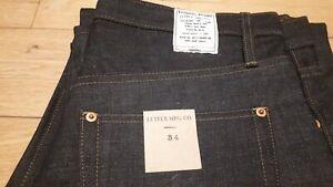 Jeans denim Lutece MFG CO Selvedge  rockabilly us navy w34 L36 rigid unwash
