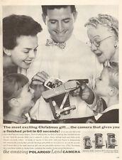 1954 vintage Christmas AD for Polaroid Land Cameras (early polaroid Ad)   111816