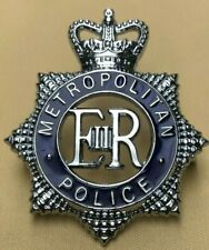 More details for obsolete police cap enamel badge, helmet plate metropolitan police london nu=2