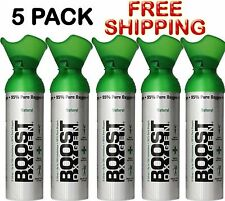 Oxygen In A Can Boost Oxygen 5 Pack Oxygen Therapy 22 oz Cans Free Shipping
