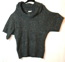 CHARCOAL GREY LADIES CASUAL TUNIC JUMPER ROLL NECK SIZE 18 NEW LOOK