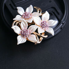 Lovely Rhinestones Alloy Flower Brooch Scarf Clip Buckle Pins Fashion Jewelry
