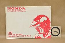 2000 trx 300fw honda fourtrax 300 4 x owner's manual for off-road.