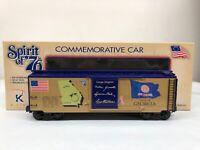 K-line Spirit of '76 Georgia State Boxcar K761-7604