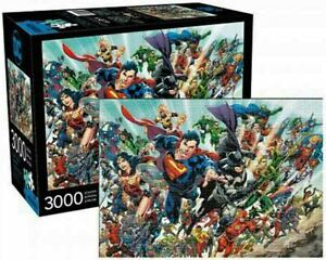 3000 piece Jigsaw Puzzle DC COMICS Universe Cast Licensed Superheroes & Villians
