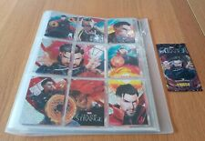 MARVEL DR STRANGE TRADING CARDS IN BINDER BY PANINI 2016 COLLECTION.