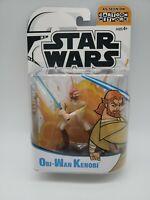 Star Wars Clone Wars Obi-Wan Kenobi Figure - Cartoon Network - 2003, New