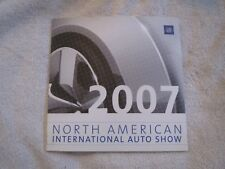 2007 GM CADILLAC BUICK PONTIAC OLDSMOBILE CHEVROLET NAIAS AUTO SHOW PRESS KIT CD