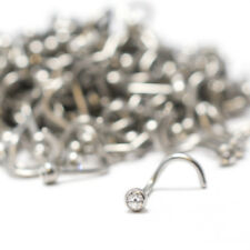 Wholesale Nose Ring Stud 18G Steel Screw 500Pcs Lot Clear CZ Crystal Jewelry