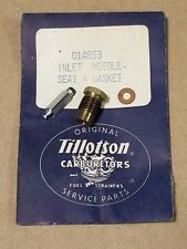 Vintage NOS TILLOTSON HD Carburetor Inlet Needle, Seat & Gasket, 014853