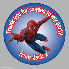 35 x Personalised Spiderman Marvel Birthday Stickers Party Bag Loot thanks- 277