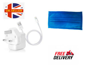 Mask free with Genuine Quality 12W Apple Wall Charger Plug Cable iPad Air iPhone