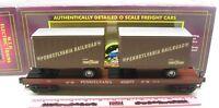 MTH ~ 20-98104 Pennsylvania Flatcar with 20' trailers