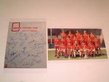 LIVERPOOL FC 1973-74 BILL SHANKLY BOB PAISLEY & TEAM SIGNED (PRE-PRINTED) PHOTOS