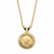 """PalmBeach Jewelry Guardian Angel Charm Necklace in 14k Yellow Gold-Plated 18"""""""
