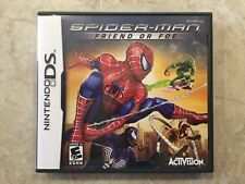 Spider-Man : Friend or Foe ( Nintendo DS ,2007 ), Complete w/Case & Manual