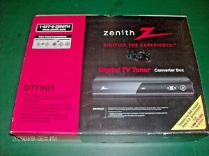 Zenith DTT901 Digital TV Tuner Converter Box (Remote Cables Manual]BRAND NEW]
