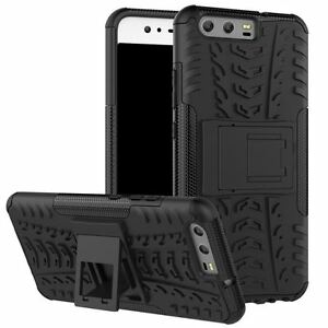 Huawei P10 Series [Tough Armour] Slim Shockproof Case Stand + LCD Screen Cover