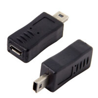 2pcs Micro USB Female to Mini USB Male Extension Data Charger Adapter