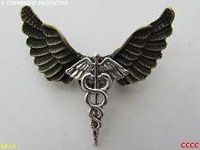 Lo Steampunk Spilla Badge Pin Gufo Ali Caduceo Serpenti ALATI personale Harry Potter
