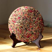 Red Rose Bud Tea Cake,Aroma Dry flower,BLOOM CHERRY Floral Herbal tee Health