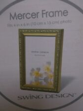 MERCER FRAME FITS 4 IN X 6 IN PHOTO SWING DESIGN WOOD GOLD COLOR NEW IN BOX