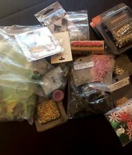 Lot Jewelry Making Supplies Pink Beads Jump Rings Polymer Clay Cutters Cabochon