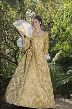 REVOLUTIONARY PIRATE SWANN COSTUME DRESS with CUFFS YELLOW all sizes Custom Made