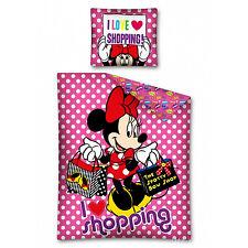 Copripiumino Cotone Singolo Una Piazza Disney Minnie Minni Topolina Love Shop