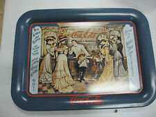 "Coca Cola ""  Old Time Soda Fountain ""Metal TV Tray - New -"