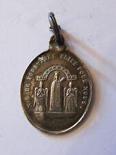 Médaille Pendentif Notre Dame de Fourvière en Argent Massif Silver Silber