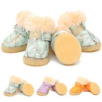Hundeschuhe Pfotenschutz Winter Antirutsch Wasserdicht Fleece Schuhe für Hunde