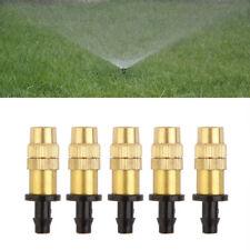5x Einstellbare Nebeldüse Gartenarbeit Wasserkühlung Messing Spray Sprinkler ZP