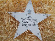 Memory Condolence Hanging Star Keepsake Plaque Personalised Gift