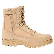 Brandit Botas Militares Hombre Mujer Montaña Tactical Zipper Boots Camel