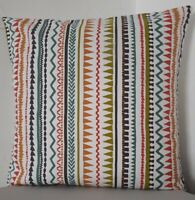 SINGLE TRENDY CUSHION COVERS RETRO MULTI COLOURED ART WIGWAM RED ORANGE GREEN