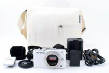 Olympus PEN E-PL3 Digital Camera White w/ Case 4GB SD SET [Exc++++] #121210A