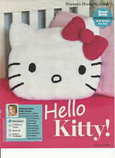 Hello KITTY CUSCINO Knitting Pattern