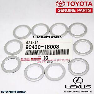 GENUINE TOYOTA LEXUS SCION DRAIN PLUG GASKET SET 10 X 90430-18008 / 90430-A0003