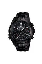 New Casio Edifice EF-535BK-1AV Black Men's Casual Watch Chronograph Date Display