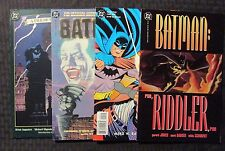 BATMAN Gotham by Gaslight / Riddler / Two-Face / Movie SC TPB LOT of 4 VF+ OB