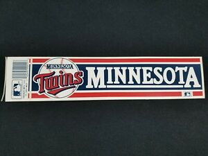 Vintage Minnesota Twins Bumper Sticker MLB 1980s Retro Decal Wall Sticker 1987