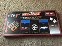 Monopoly CORVETTE 50TH ANNIVERSARY GAME Complete Very Nice