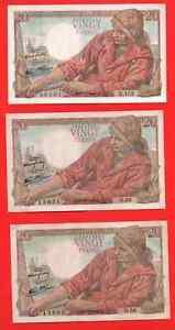 3 billets 20 Francs PECHEUR