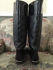 Salamander Europe Riding Equestrian Tall Patent And Leather Black Boots 6 1/2