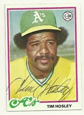 TIM HOSLEY 1978 TOPPS SIGNED # 261 A'S DECEASED