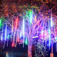 8x RGB 240LED Muti-Color 50CM Meteor Shower Rain Light Tube String For Tree Xmas